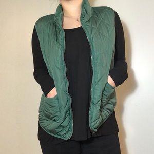 41 Hawthorn Green Pleated Puffer Vest